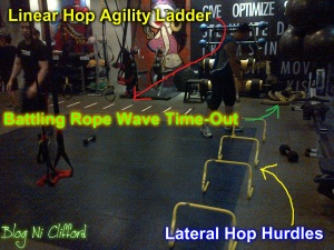 Linear Hop Agility Ladder and Lateral Hop Hurdles